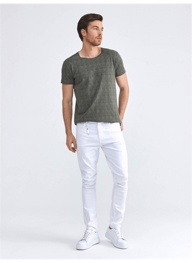 Xint XINT Pamuklu Beş Cep Skinny Fit Pantolon Beyaz